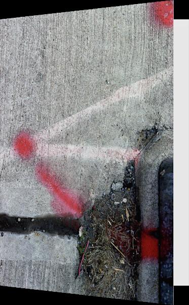 Abstract Midtown Sidewalk Art Greeting Card – Sherry Mills
