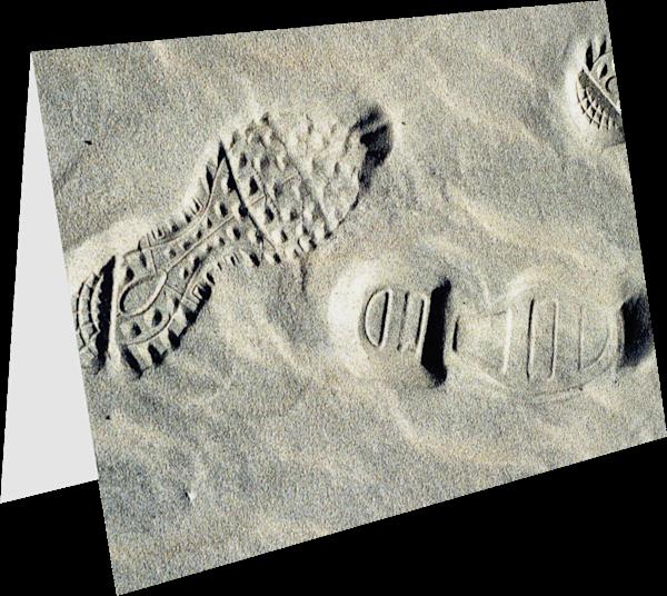 Sandy Beach Abstract Footprint Greeting Card – Sherry Mills