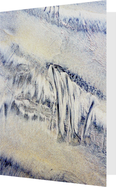 Abstract Expressionist Beach Fine Art Card – Sherry Mills