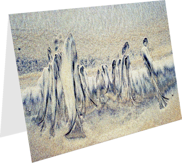 Abstract Sand Family Close-up Greeting Card – Sherry Mills