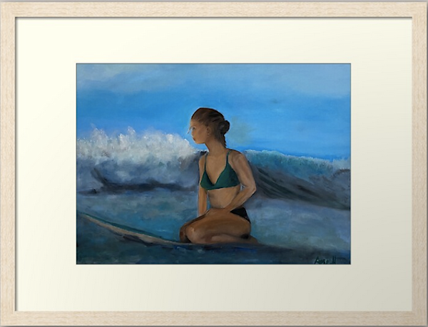 Framed  Surfer Art Print | Fine Art by Ane