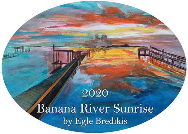 2020 Banana River Sunrise Ornament by Egle Bredikis