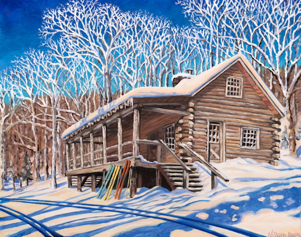 Slayton Pasture Cabin Art for Sale