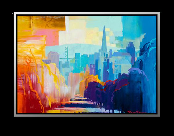 "Simon Bull Available Original Painting - ""Clay St"""