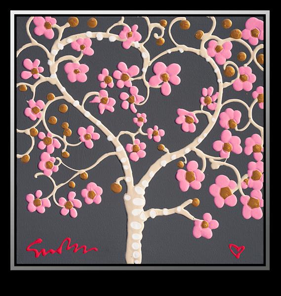 "Simon Bull Available Original Painting - ""Valentines Garden"""
