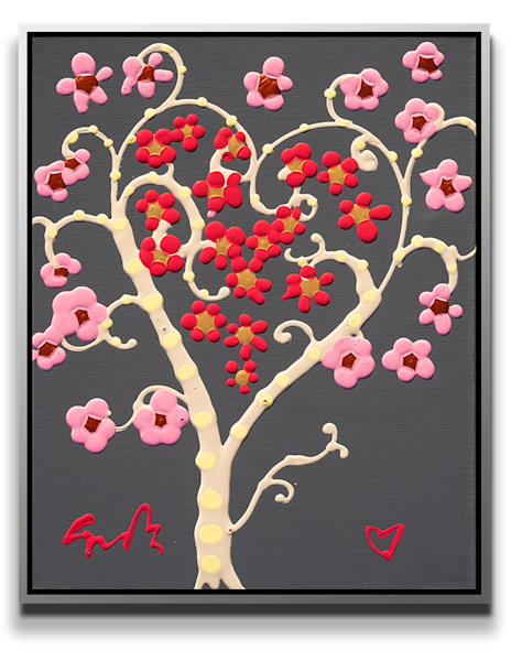 "Simon Bull Available Original Painting - ""Valentine Tree"""
