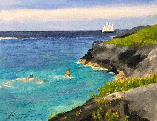 Schooner On The Coast Art | Mid-AtlanticArtists.com
