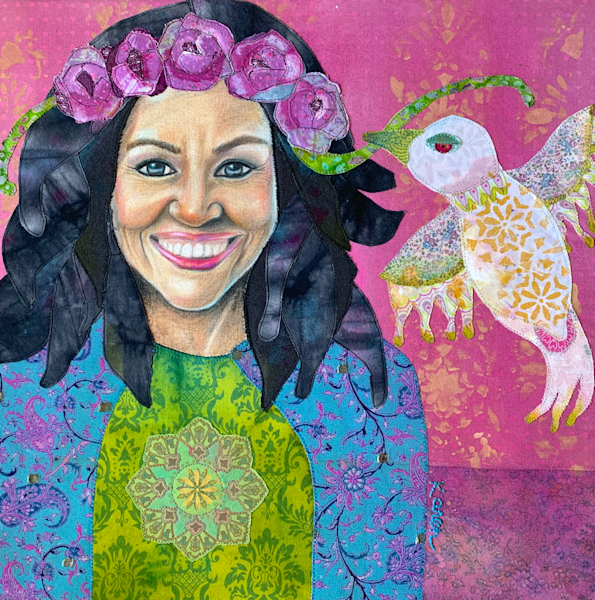 Michelle Obama; When They Go Low  We Go High Art | Karen Payton Art