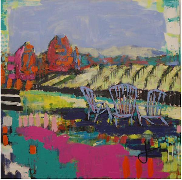 Happy Hour Ii (Original Painting) Art | Jennifer Ferris