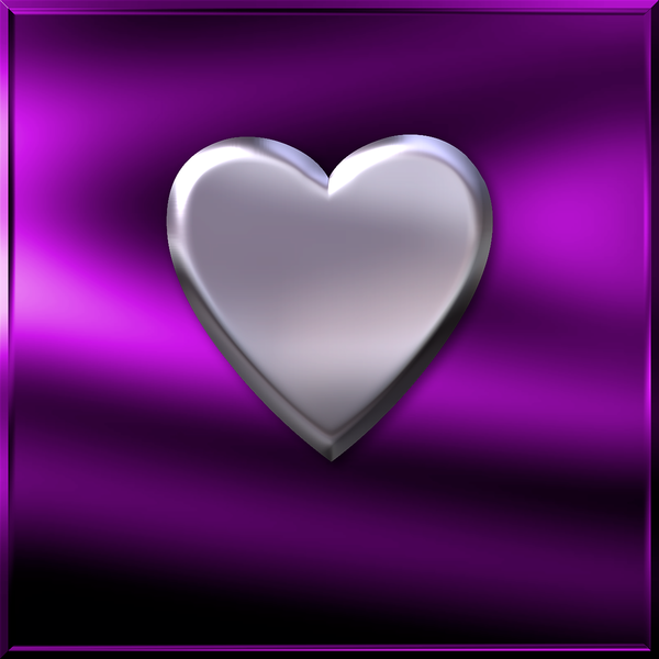 Purple Chrome Heart Art | DARDISartgalleries