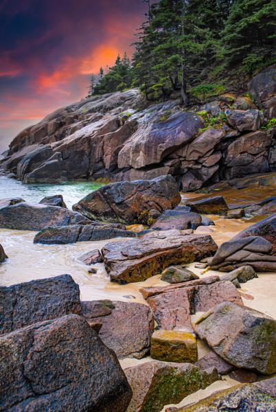 Acadia Coast Dusk Photography Art | Robert Vielee Photography