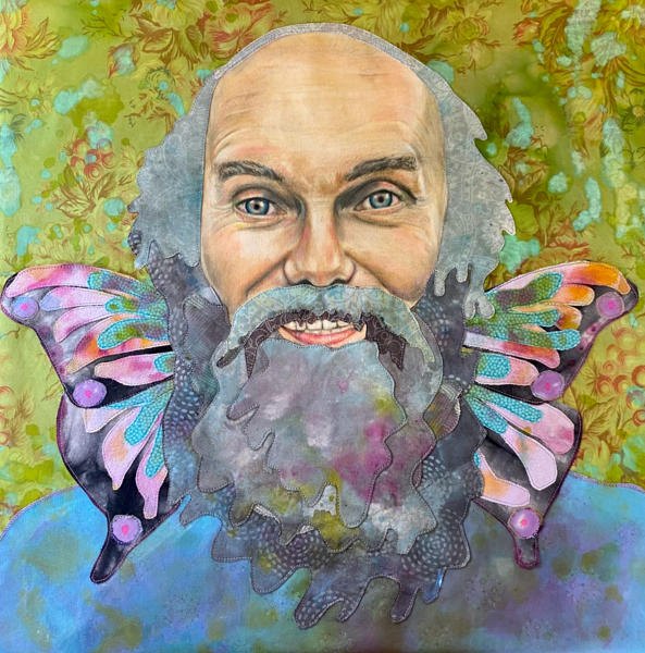 Ram Dass with butterfly