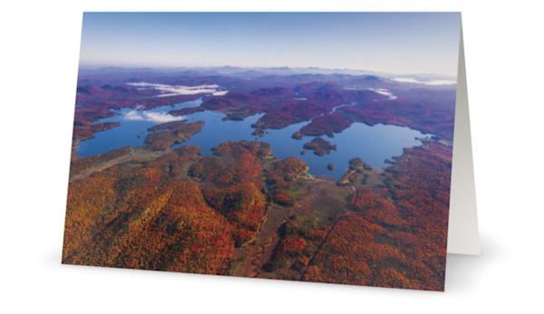 Raquette Lake Fall Aerial Card | Kurt Gardner Photogarphy Gallery