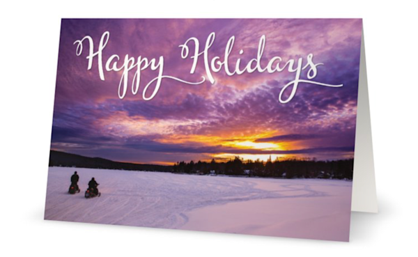 4th Lake Happy Holidays Snowmobile Card   Kurt Gardner Photogarphy Gallery
