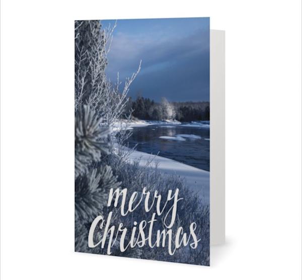 Moose River Vertical Merry Christmas Card   Kurt Gardner Photogarphy Gallery