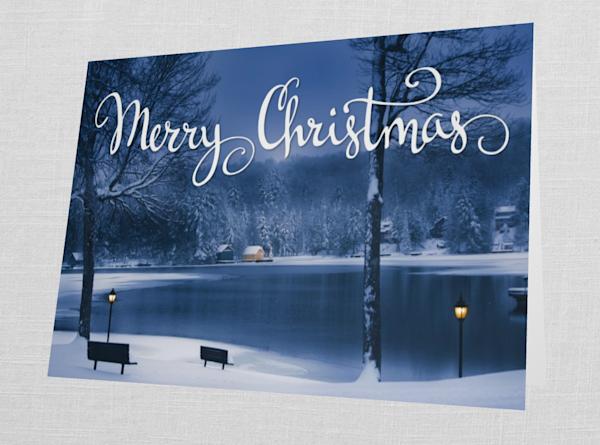 Old Forge Pond Merry Christmas Card   Kurt Gardner Photogarphy Gallery