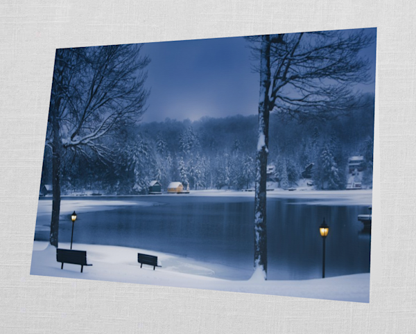 Old Forge Pond Winter Card | Kurt Gardner Photogarphy Gallery