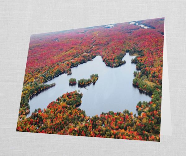 Otter Lake Fall Aerial Cards | Kurt Gardner Photogarphy Gallery