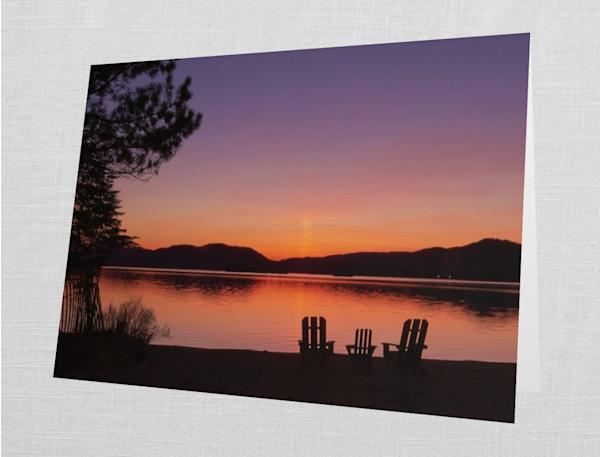 4th Lake Adk Chairs Card | Kurt Gardner Photogarphy Gallery