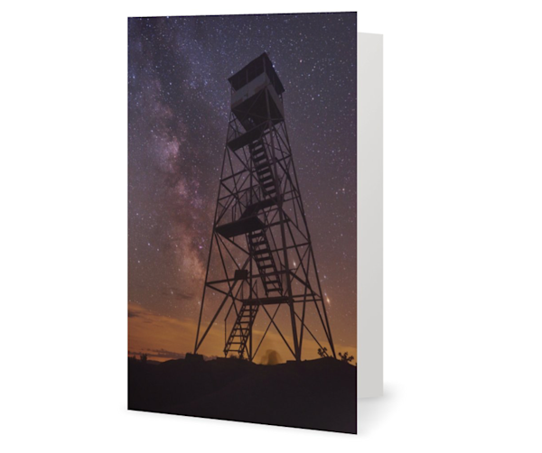 Bald Mt Milky Way Fire Tower Cards | Kurt Gardner Photogarphy Gallery
