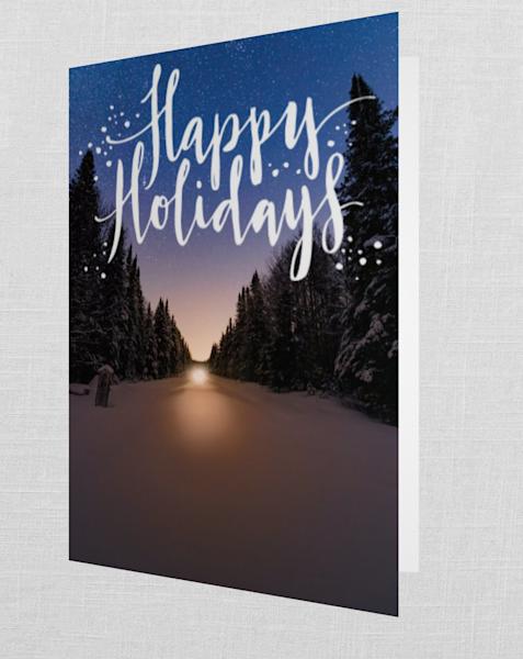 Snowmobile Vertical Train Tracks Happy Holidays   Kurt Gardner Photogarphy Gallery