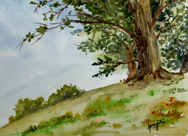 """""""Standing Strong"""" in Watercolors by Aprajita Lal"""