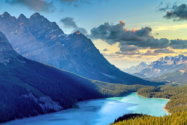 Print Art Banff National Park Alberta Canada Canadian Rockies and Glacier Lakes