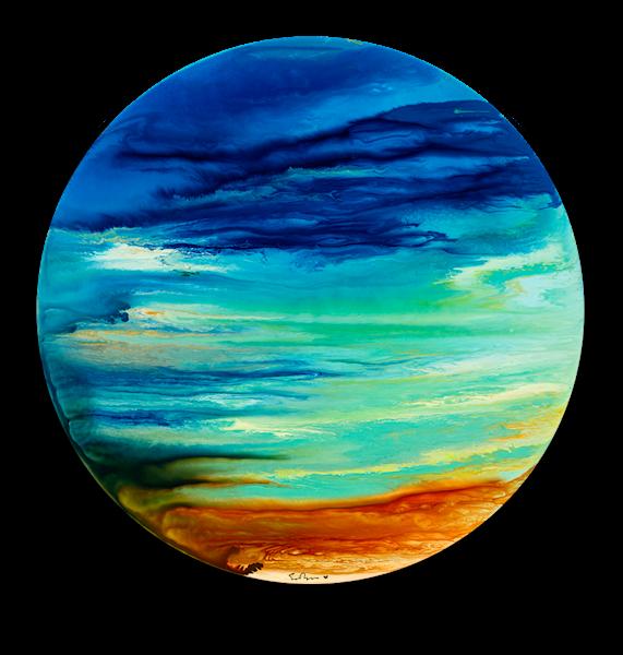 "Simon Bull Available Original Painting - ""Aqua Terra"""