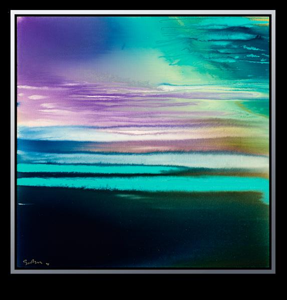 "Simon Bull Available Original Painting - ""Emeralds"""