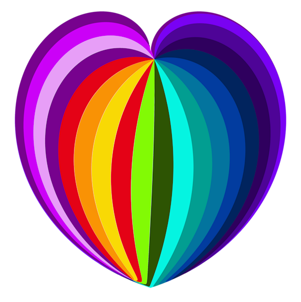 Rainbow Heart/Transparent Background/Merch Art | karenihirsch