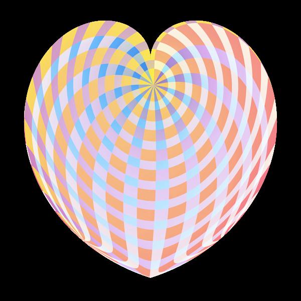 Pastel Plaid Heart/Transparent Background/Merch Art | karenihirsch