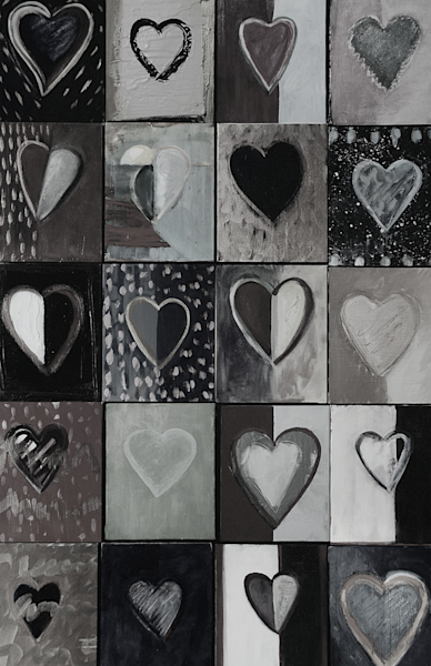 Piece Of My Heart: Black & White Art | All Together Art, Inc Jane Runyeon Works of Art