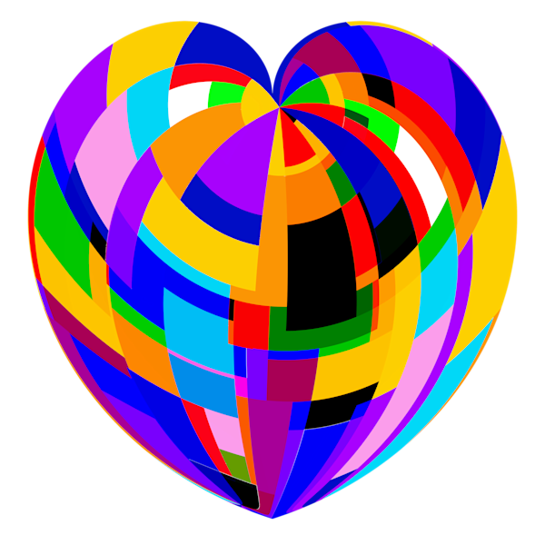 Heart Of Rectangles Transparent Background/Merch Art | karenihirsch