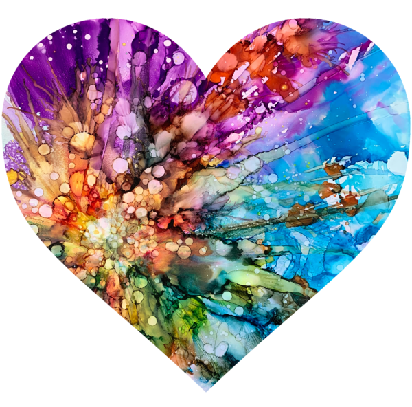 Colorful Abstract Heart Art | Cindy Bettinger