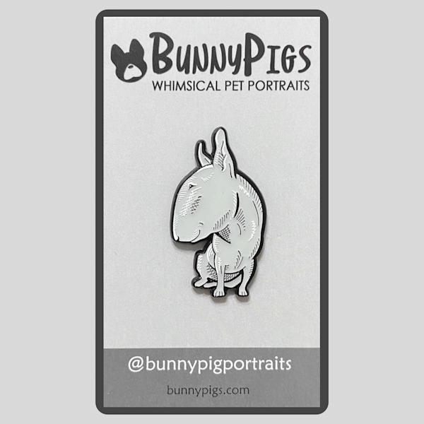 Sketch Pin: Bull Terrier | BunnyPigs