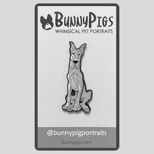 Sketch Pin: Great Dane | BunnyPigs