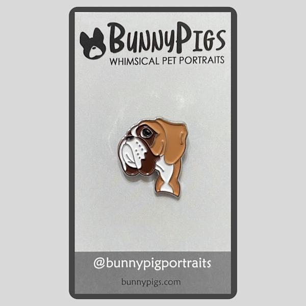 Mc Queen The Boxer Pin | BunnyPigs