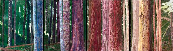 Sacred Forest (Multipanel) Art | Meryl Cohen Art