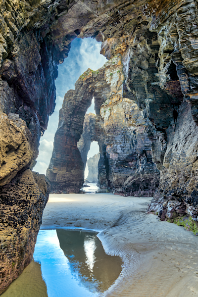 Print Art Ribadeo Galicia Spain Beach of the Cathedrals