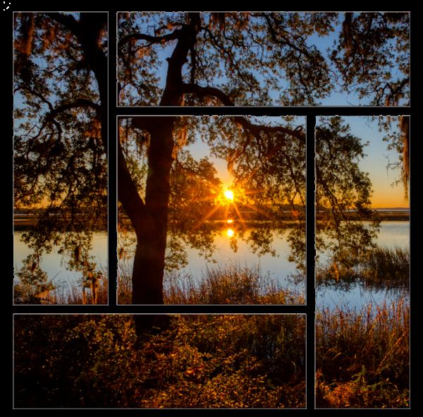 "Lace Sunset Parquet (42""X42"") Photography Art   Willard R Smith Photography"