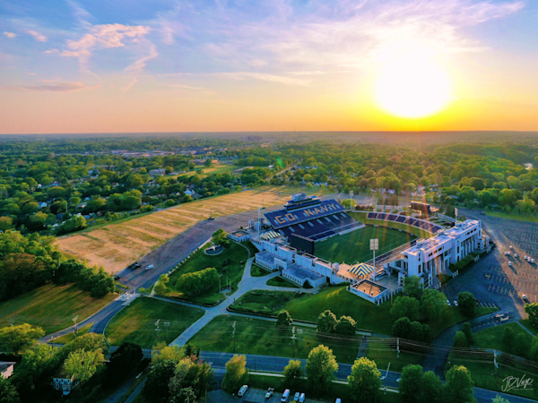 Stadium Sunset! Art   Jeff Voigt Owner/Aerial Photographer