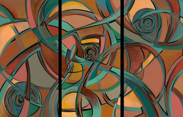 Pin Ball (Triptych) Art | Kim P. Bartholomew