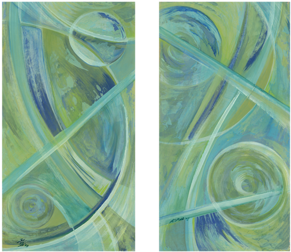 Green (Diptych) Art | Kim P. Bartholomew