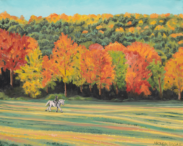 'Autumn Ride' - Art for Sale.