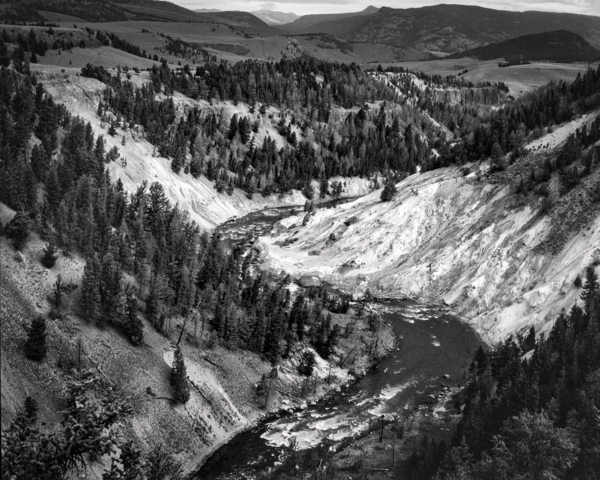 Yellowstone River In Black & White Photography Art | Robert Vielee Photography