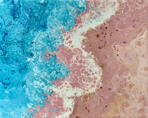 "Abstract Art Acrylic Painting ""Bermuda Dreamin""  | Deborah Younglao"