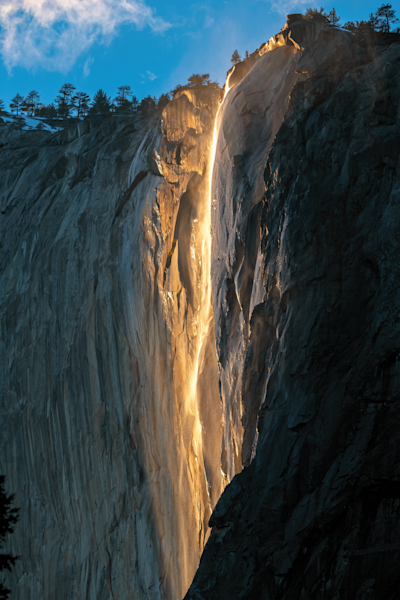 Print Art Yosemite National Park California Firefall