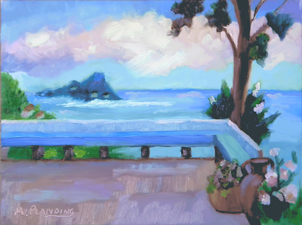 An Italian View | Original Seascape by Mary Planding