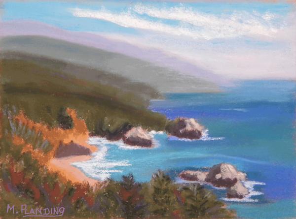 Big Sur Dreams | Original soft pastel painting by Mary Planding