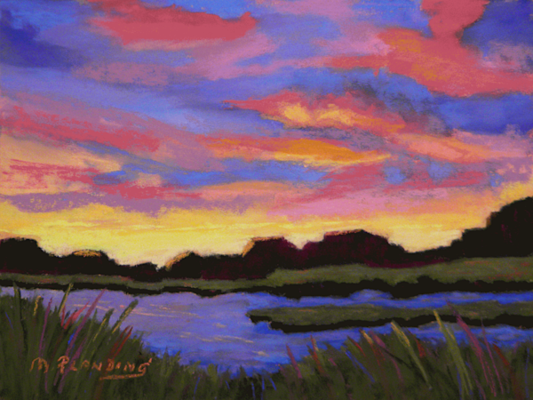 Evening Song | Original soft pastel painting by Mary Planding